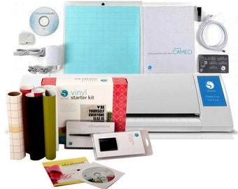 Silhouette Cameo II Touch Screen + Vinyl Starter Kit - A 339.98 Value