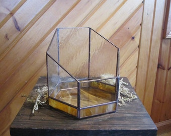 Two-toned Stained Glass Terrarium
