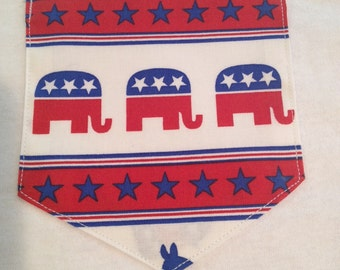Republican front  Pocket tshirt GOP