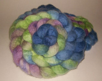 BFL Wool Roving - Hand Dyed Roving for Spinning and Felting