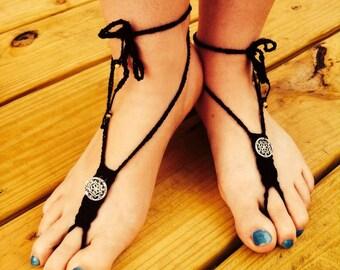 Boho Barefoot Sandals **Pattern**