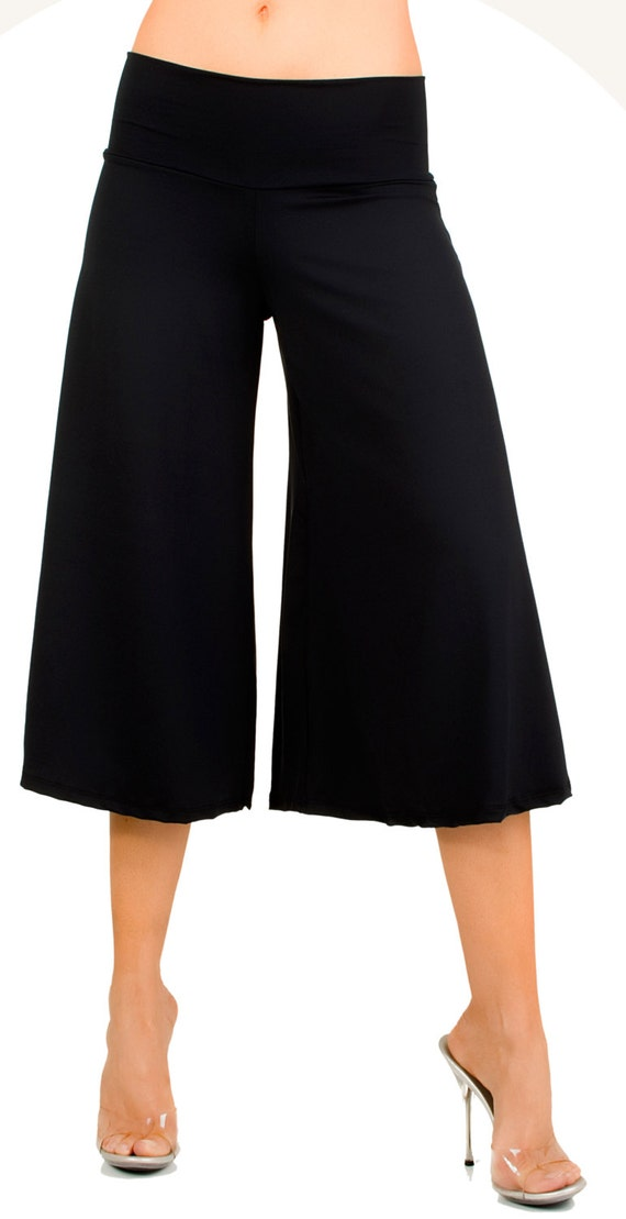 Flowy and Comfy Women's Capri Gaucho Pants. 25 by GlamAttack