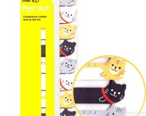 Adorable Kitty Cat Shaped Peep Out Memo Post-it Sticky Tabs from Japan | Cute Affordable Animal Themed Stationery