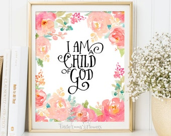 bible verse art nursery decor i am a child of god scripture print nursery verse home decor art christian wall digital inspiration quote 3-3