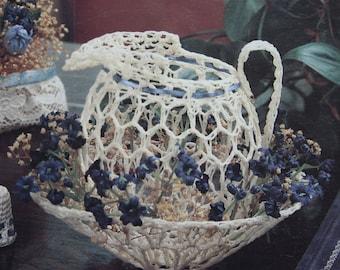 Decorating Victorian - Victorian Crochet - Leisure  Arts 2156  - Crochet Pitcher and Bowl, Treasure Box, Suncatchers, crochet Boots,