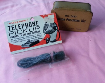 Vintage Realistic Telephone Pickup Wiretap Tape Recorder 44-533A