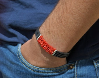 man in coral bracelet Corsica 1st choice