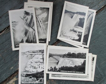 1923 Niagara Falls; Bardell Fototone Miniatures; 20 Small Photographs; Postcards