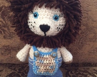 Crochet Lion Play Toy