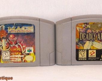 "Nintendo 64 Game Lot ""Mace"" & ""Deadly Rift"""