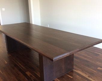 10' Bevel Edge Walnut Dining Table