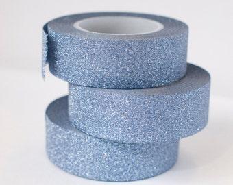 Blue Charcoal glitter tape