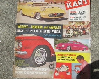 Vintage January 1962 Car Craft and Kart  Magazine