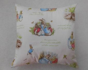 "Beatrix Potter Peter Rabbit Nursery Cushion Cover 40cm x 40cm (16""x16"")"