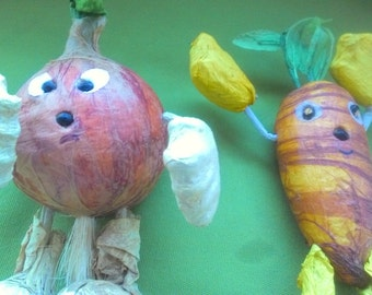 Vintage Paper Mache Vegetables