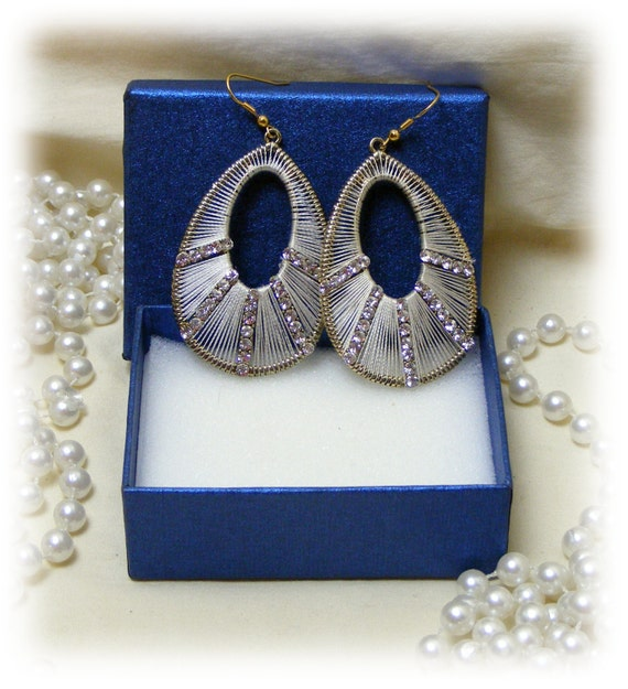 STAINLESS WRAPPED WIRE Dangle Earrings (pierced)