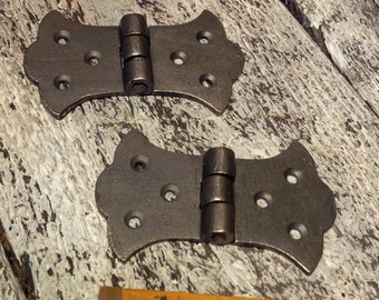 1 x pr Cast Iron Butterfly Hinges