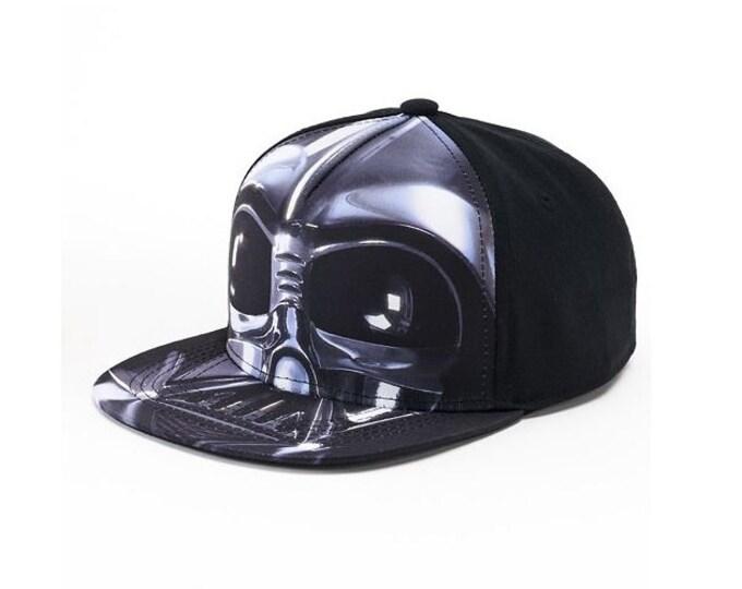 Star Wars Darth Vader Baseball Hat Black Flatbill Cap – Boys