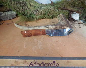 Wyoming Skinner Norfolk Pine Burl Wood Handles Hunting Knife