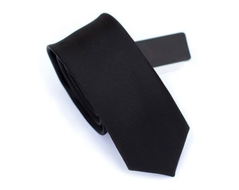 Mens Black Ties.Buesiness Ties.Silk Ties