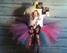 Monster High Birthday Tutu Outfit,Monster High Birthday,Monster High,Monster High Party,Monster High Tutu,Monster High Outfit,Monster High