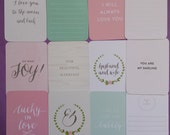 Southern Weddings edition - Project Life (set of 12 cards)