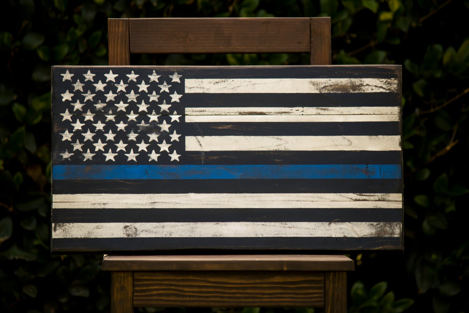 American Flag The Thin Blue Line