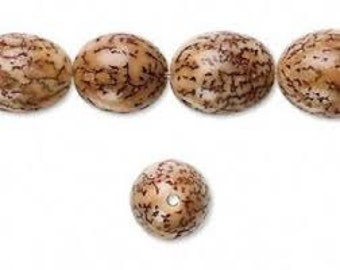 Betel Nut 10mm Round - Natural - Pack 20