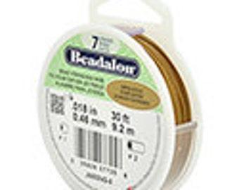 Beadalon 7 Strand .018 Gold Satin Tiger Tail - 9.2m
