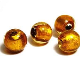 Foil Lined 10mm Rounds - Pack 10 - Amber