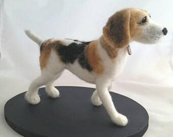 Commission only - Needle felted Beagle Dog