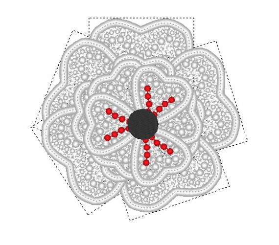 FSL Flower Free Standing Lace Flower Embroidery Design In The Hoop Flower Large Embroidery ...