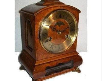 Warmink WUBA Vintage Mantel Shelf Dutch table clock 8 day table striking cabinett clock