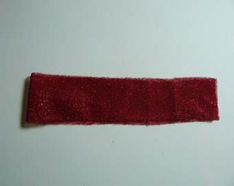 Shabby Chic Sparkling Red Ribbon, Sparkling Red Textile Trim Ribbon Design, Handmade Ribbon Supplies