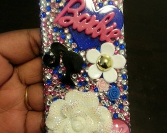 Barbie iphone 5 bling phone case