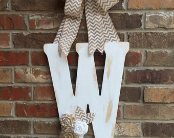 monogram letter door hanger 18""