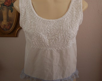 From Vintage Cotton Cowgirl Summer Peasant Top