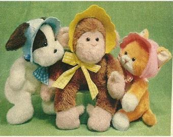 "Vintage 12"" Animal Babies Pattern"