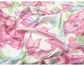 Pink Floral Silk. Pure Silk. Summer fabric