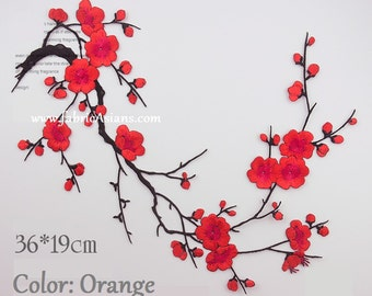 Blossom Applique. Cherry Blossom Decor. Flower Patch. Floral Applique. Sewing supplies. Embroidered Applique.  LA100017