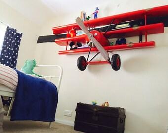 Red Baron Plane Shelves