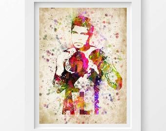 Muhammad Ali Poster, Muhammad Ali Print, Muhammad Ali Art, Home Decor, Gift Idea