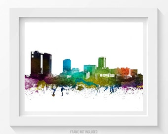 Fort Worth Poster, Fort Worth Skyline, Fort Worth Cityscape, Fort Worth Print, Fort Worth Art, Fort Worth Decor, Home Decor, Gift Idea 01