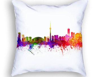 Toronto Pillow, Toronto Canada, Toronto Skyline, Toronto Cityscape, 18x18, Cushion Home Decor, Gift Idea, Pillow Case 02