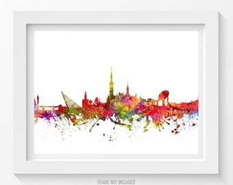 Seville Poster, Seville Skyline, Seville Cityscape, Seville Print, Seville Art, Seville Decor, Home Decor, Gift Idea 08