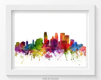 Minneapolis Poster, Minneapolis Skyline, Minneapolis Cityscape, Minneapolis Print, Minneapolis Decor, Home Decor, Gift Idea 06
