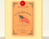 Blank Note Card, 4th of July Card, Patriotic Note Card, Star Spangled Banner Card, US Flag Greeting Card, Handmade Card 4 x 5 Paper Card