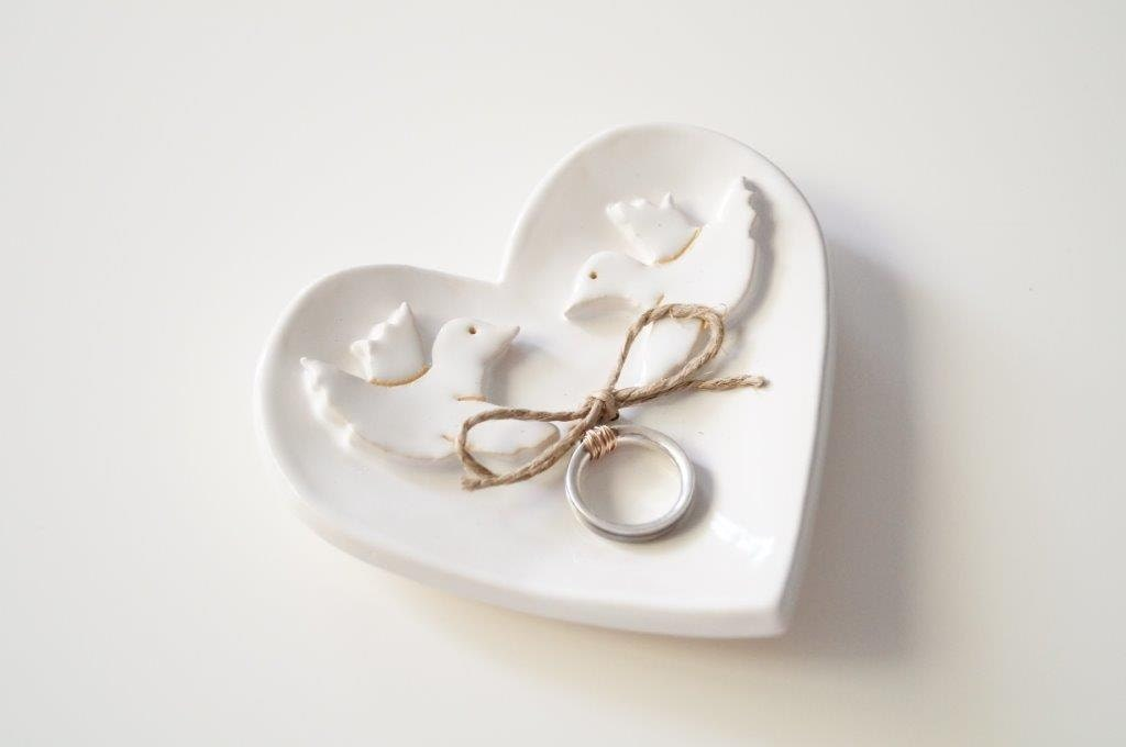 wedding ring holder birds ring holder