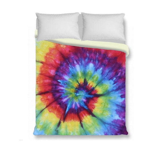 Duvet Cover Comforter Cover Tie Dye Bedding Rainbow By