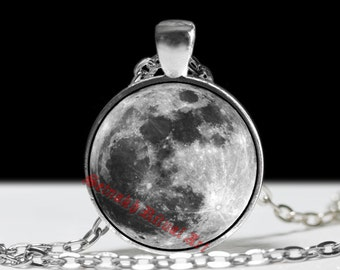Fullmoon pendant, Moon jewelry, gothic jewelry,  crescent Moon, wolf jewelry, magic necklace #9